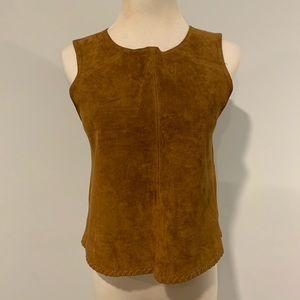 2/$40 Zara genuine leather sleeveless top / shell
